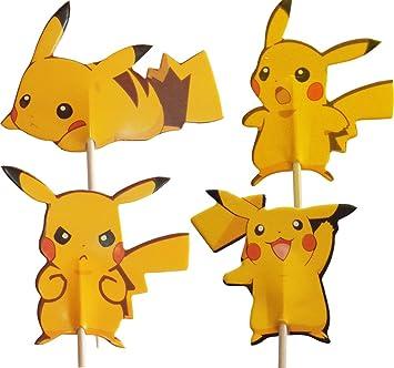 Pokemon Pikachu Kuchen Toppers Packung Mit 24 Amazon De Spielzeug