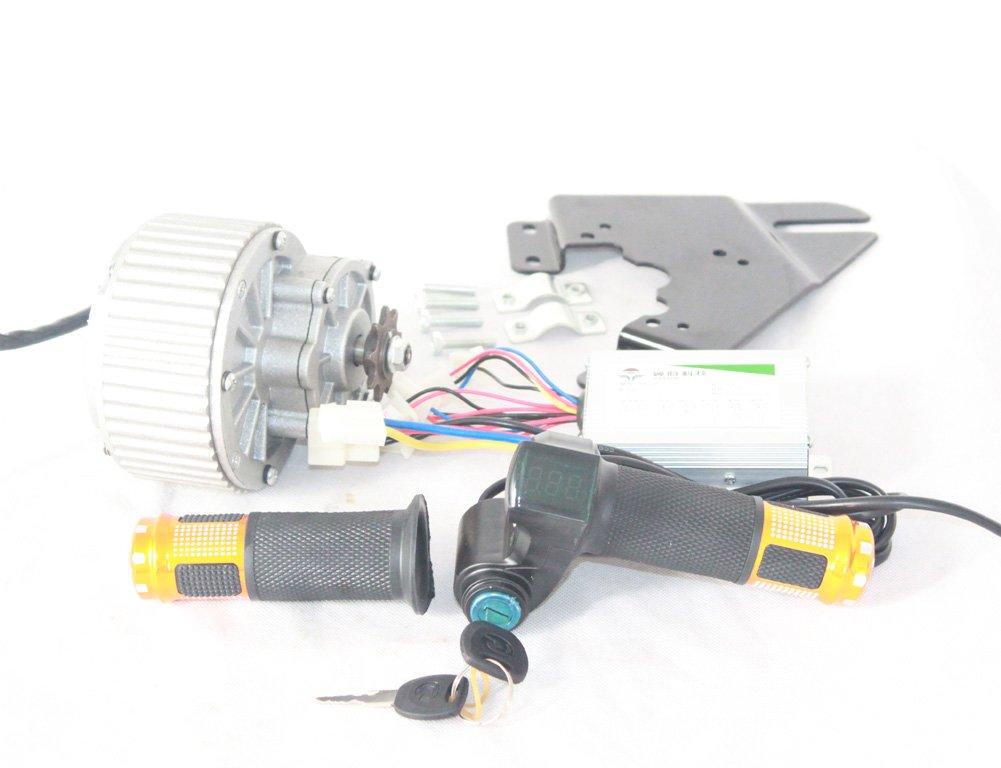 450ワット電動ブラシモータとコントローラとスロットルハンドルバッテリー電圧表示ユナイトモーターmy1018経済電気モーター [並行輸入品] B0785JGKY1 24V450W