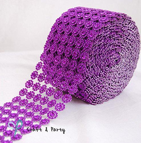 Mesh Wrap Roll Faux Rhinestone Crystal Ribbon 4