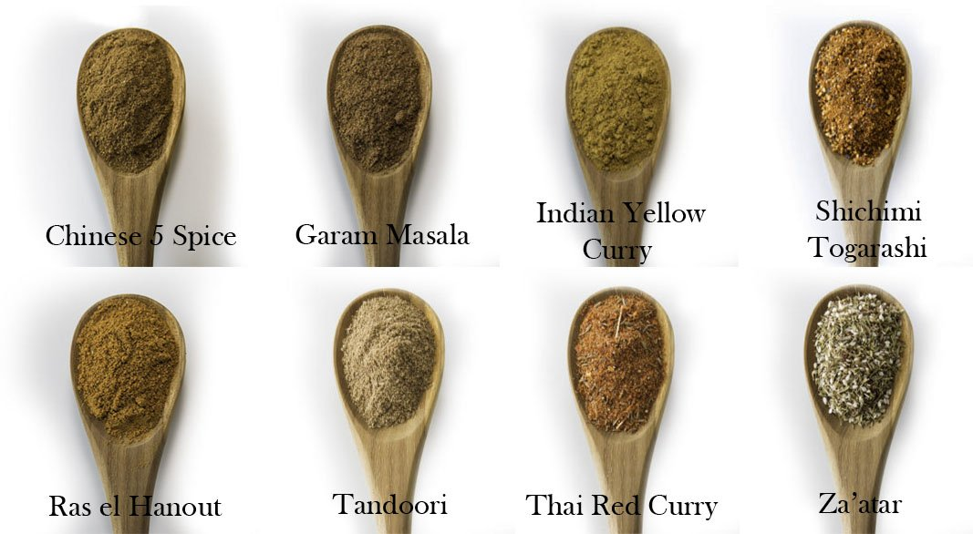 Spice Squad ~ International 8 Variety Sampler Gift Set | Thai Red Curry, Ras el Hanout, Indian Yellow Curry, Za'atar, Shichimi Togarashi, Chinese 5 Spice & Garam Masala by Spice Squad (Image #3)
