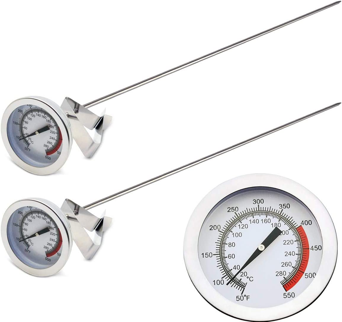 Efeng oil thermometer deep fry(2 pack) with clip & 15