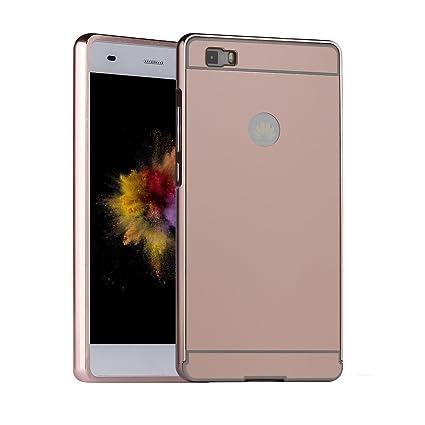 Asnlove Huawei P8 Lite 2015 Puro Funda, Funda Protectora Rígida Tapa Trasera de Metal Aluminio Espero Carcasa Rigida PC con Bumper Shell Cubierta para ...