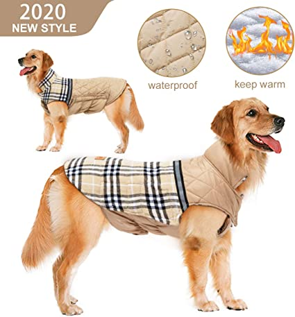 Pet Dog Coat Windproof Waterproof Jacket Reflective Dog Clothes Reversible S-XL