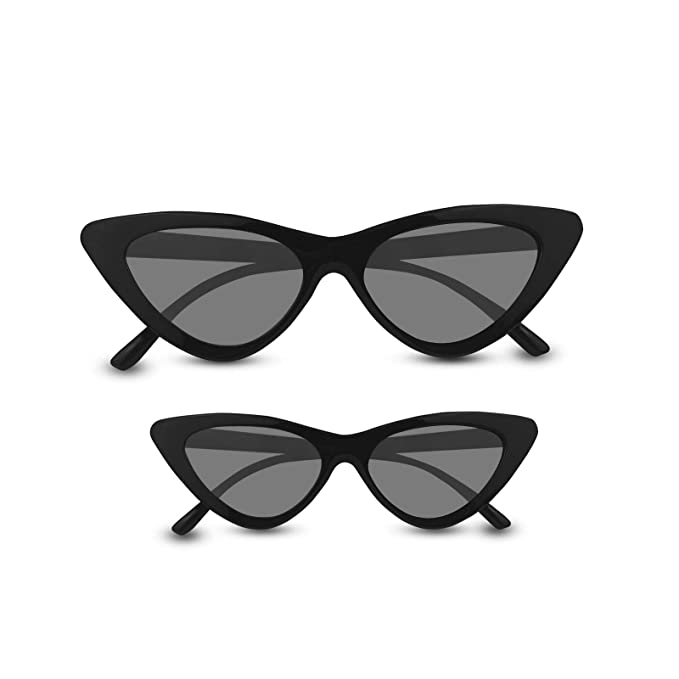 7347dbb143 Livhò Retro Vintage Narrow Cat Eye Sunglasses for Women Clout Goggles  Plastic Frame (2 in