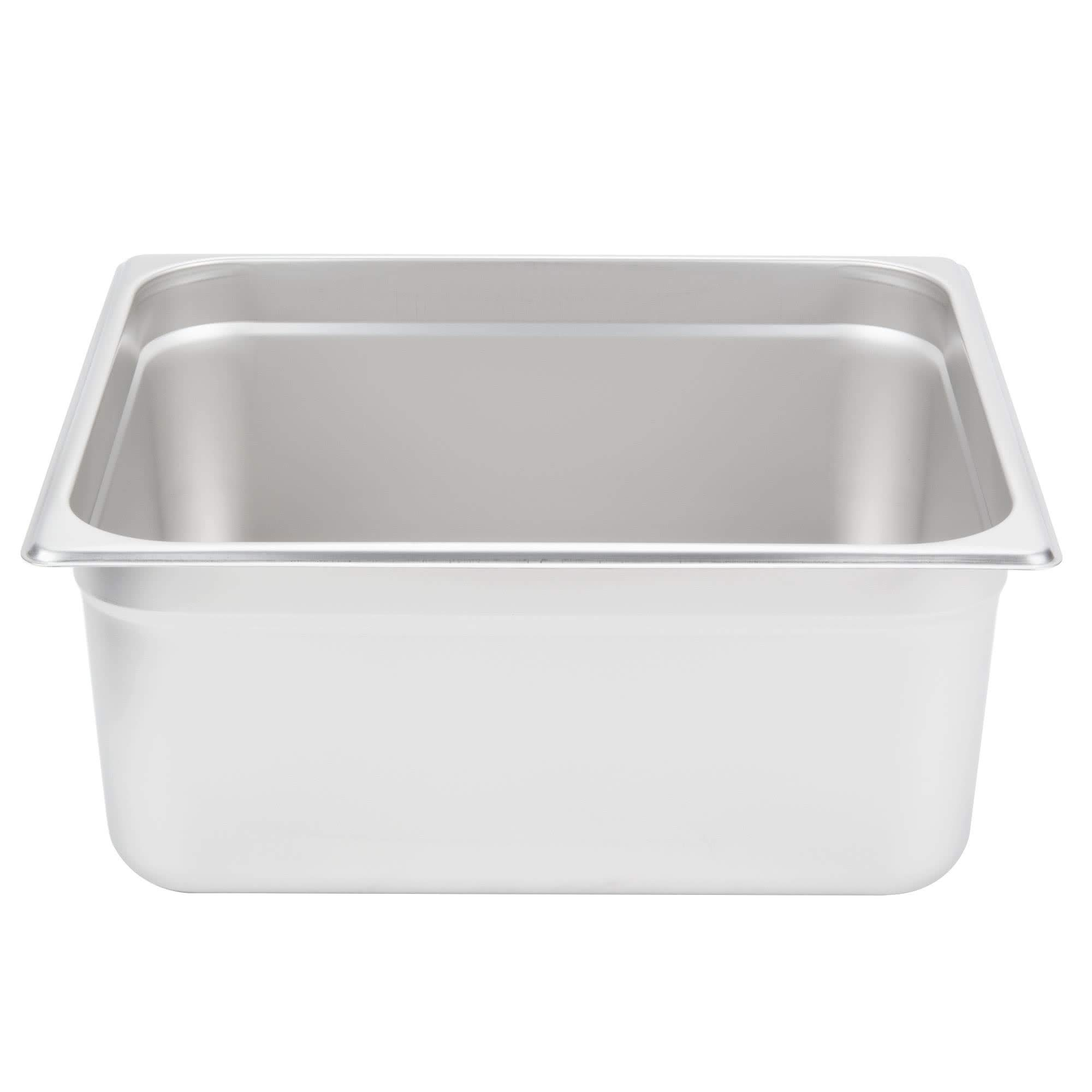 TableTop King 2/3 Size Standard Weight Anti-Jam Stainless Steel Steam Table/Hotel Pan - 6'' Deep by TableTop King