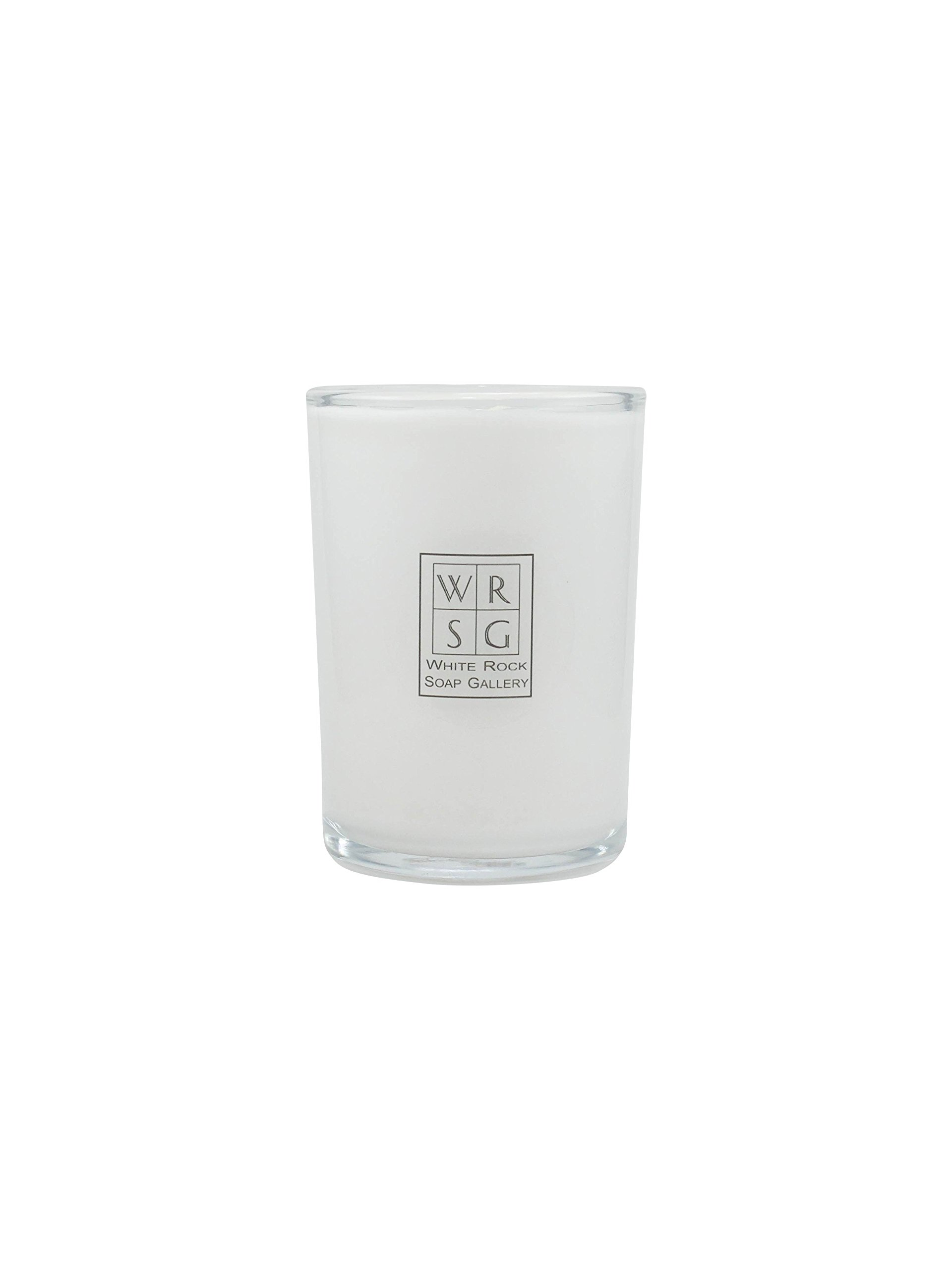8 oz Glass Soy Wax Candle by White Rock Soap Galery
