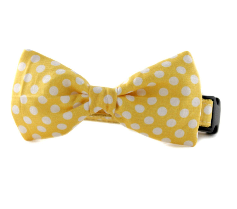 Yellow Fox Dog Bow Tie Cat Bow Tie Fall Woodland Animal Pet Bowtie