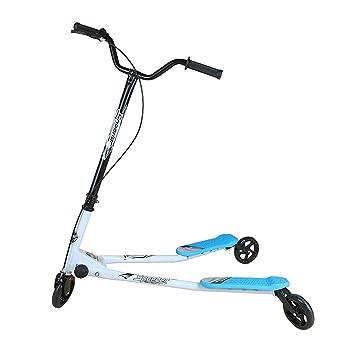 Novohogar Patinete Scooter de 3 Ruedas Marco de Acero de Alta Resistencia. Mayor Seguridad y Estabilidad, fácil Giro y aceleración
