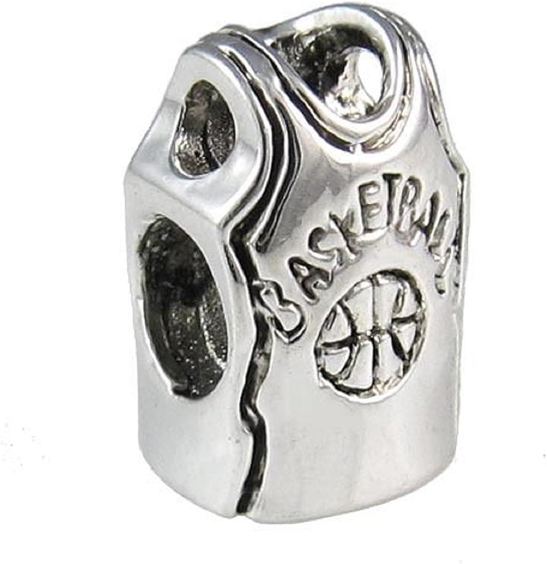Basketball Player sterling silver charm .925 x 1 Basket Ball players EC1613