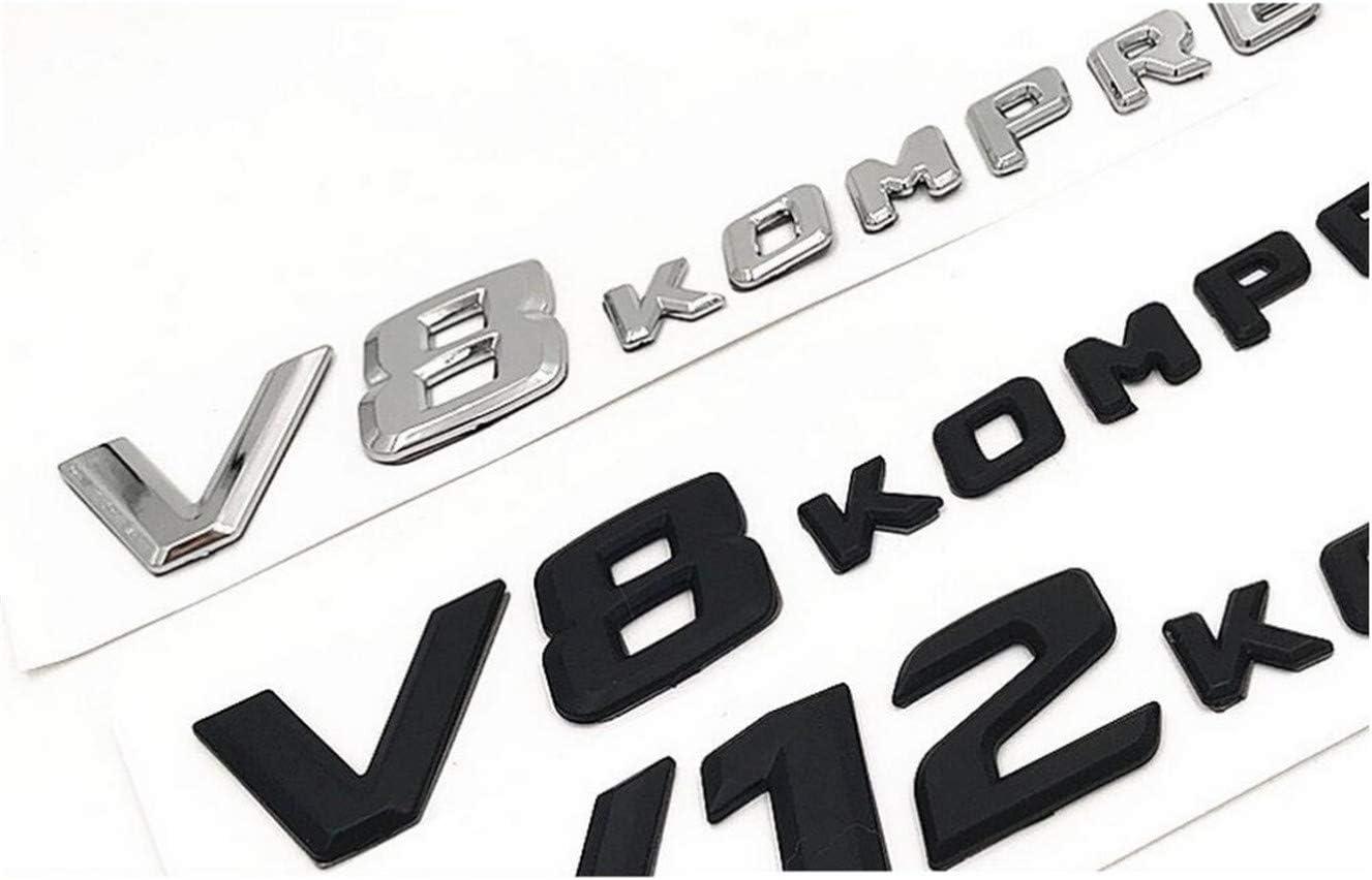V8 KOMPRESSOR Emblema de pl/ástico para maletero de coche