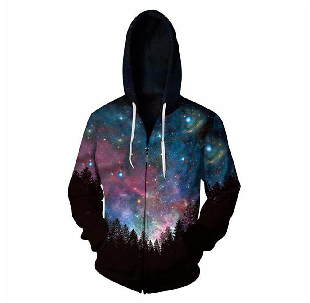 KovLee Cloudstyle Starry sky Hooded Sweatshirt Zipper Outerwear Anime 3D Hoodies Women Men Zip Up Hoodie TRACKSUITSS-5XL at Amazon Mens Clothing store: