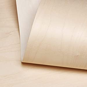 """Edge Supply Birch Wood Veneer Sheet Rotary, 24"""" x 96"""", Peel and Stick, """"A"""" Grade Veneer Face, Easy Application with 3M Self Adhesive Birch Wood Veneer Sheet, Veneer Sheets for Restoration of Furniture"""