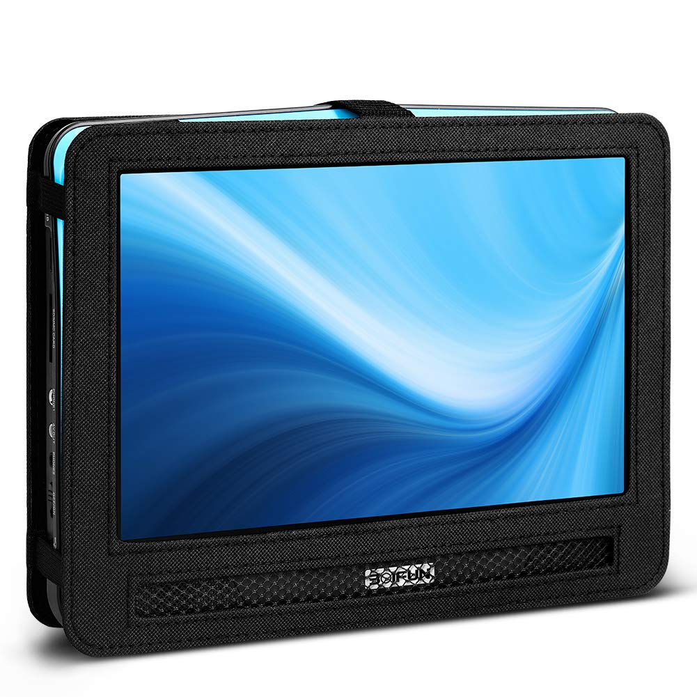 BOIFUN 12.5 inch Car Headrest Mount Holder Backseat Strap Case for Portable DVD Player with Swivel & Flip Screen by BOIFUN