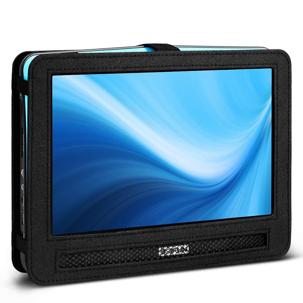 BOIFUN 12.5 inch Car Headrest Mount Holder Backseat Strap Case for Portable DVD Player with Swivel & Flip Screen
