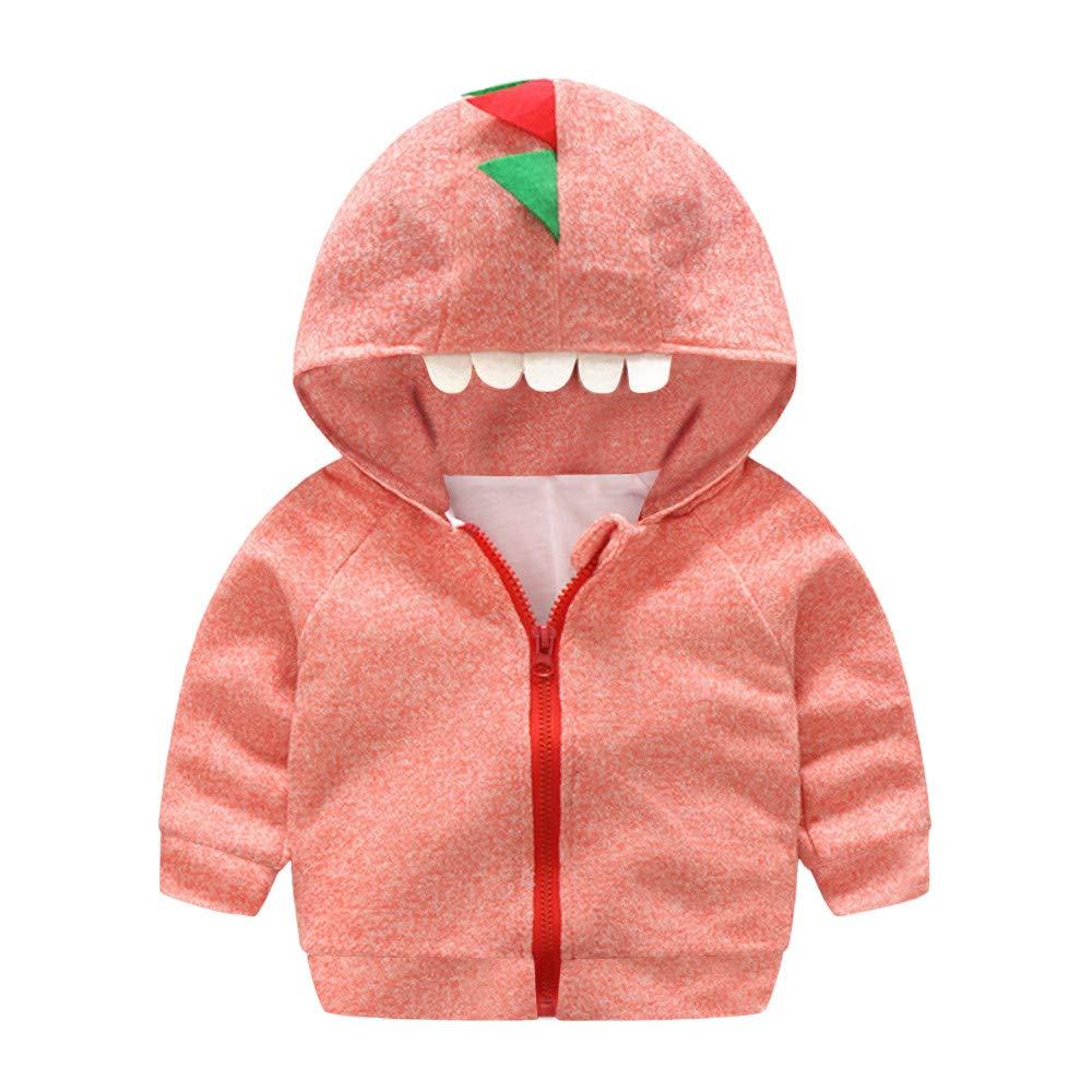 Hooded Coat Cute Infant Toddler Zipper Outwear Jacket Tops Cartoon Dinosaur Winter Baby Coat,Fineser Baby Unisex Jacket
