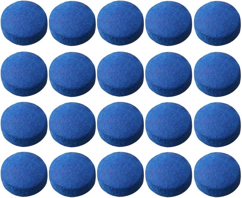 20 Pcs Embout Proc/éd/é Billard Queue 10mm a Coller Visser Remplacable Accessoir Billard Snooker Bleu Siming Embout de Queues