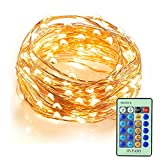 InnooLight Indoor Starry String Lights, 100 Led Firefly Fairy Lights 33ft Copper Wire 8 Mode Ambiance Lighting with Remote Control for Christmas Party, Outdoor Patio, Deck, Magical Decor for Wedding D
