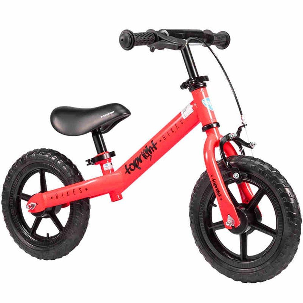 HAIZHEN マウンテンバイク 年齢1.55歳のバイク ベストスポーツバイクボーイズ&ガールズ キッズは、軽いファーストバイクでトリシクルをスキップします 新生児 B07C3SBVNY 赤 赤