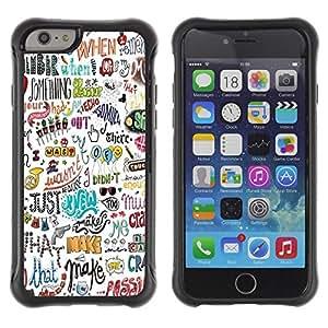 LASTONE PHONE CASE / Suave Silicona Caso Carcasa de Caucho Funda para Apple Iphone 6 / Happy Positive Motivational Hand
