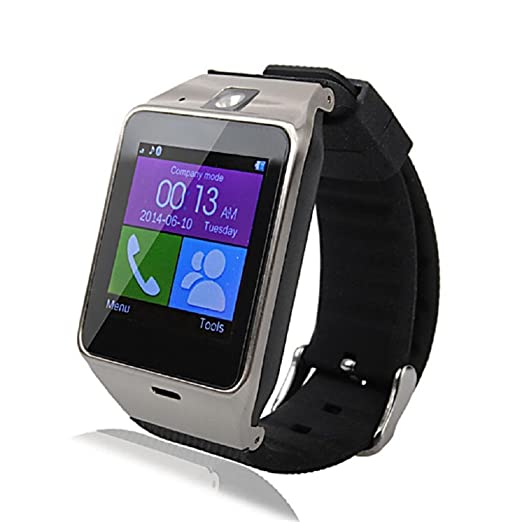 Kingfansion Aplus GV18 Bluetooth Smart Watch phone GSM NFC Camera Waterproof wristwatch for Samsung iPhone (Black)