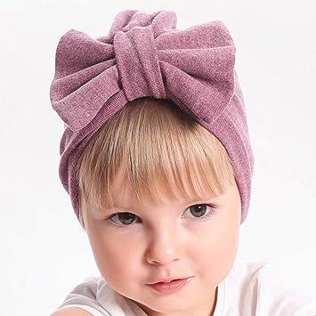 Kalttoy Baby M/ädchen M/ütze mit gro/ßer Schleife Baumwolle rose einfarbig