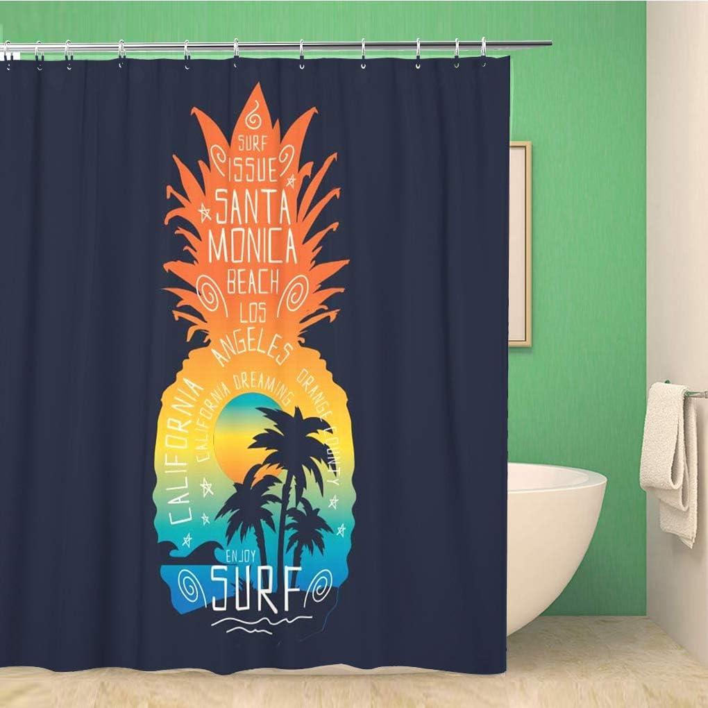 Topyee Shower Curtain Colorful Birthday for Rainbow Circles Pattern Bridge Dark Digital 60x72 Inches Waterproof Polyester Bathroom Decor Curtain Set with Hooks