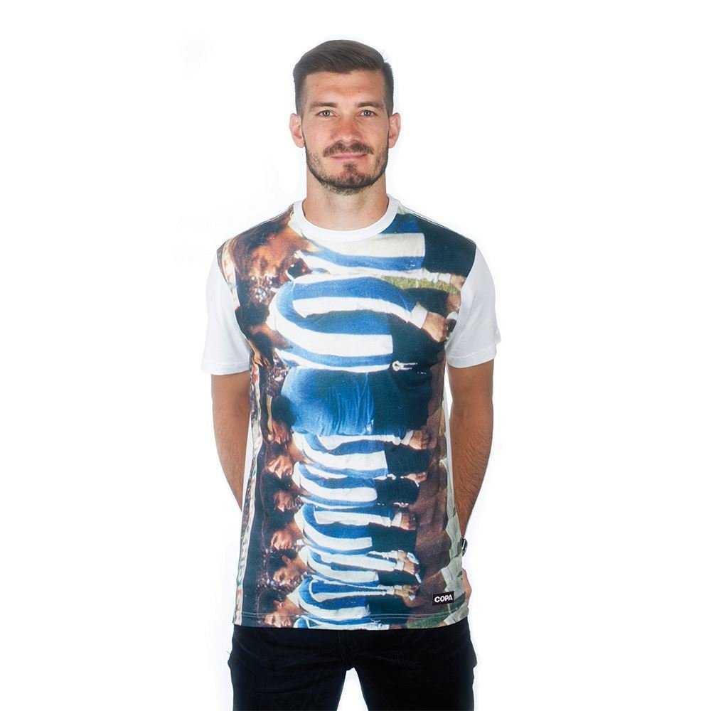 COPA Football - Argentinie 1970's All Over T-Shirt - Weiß