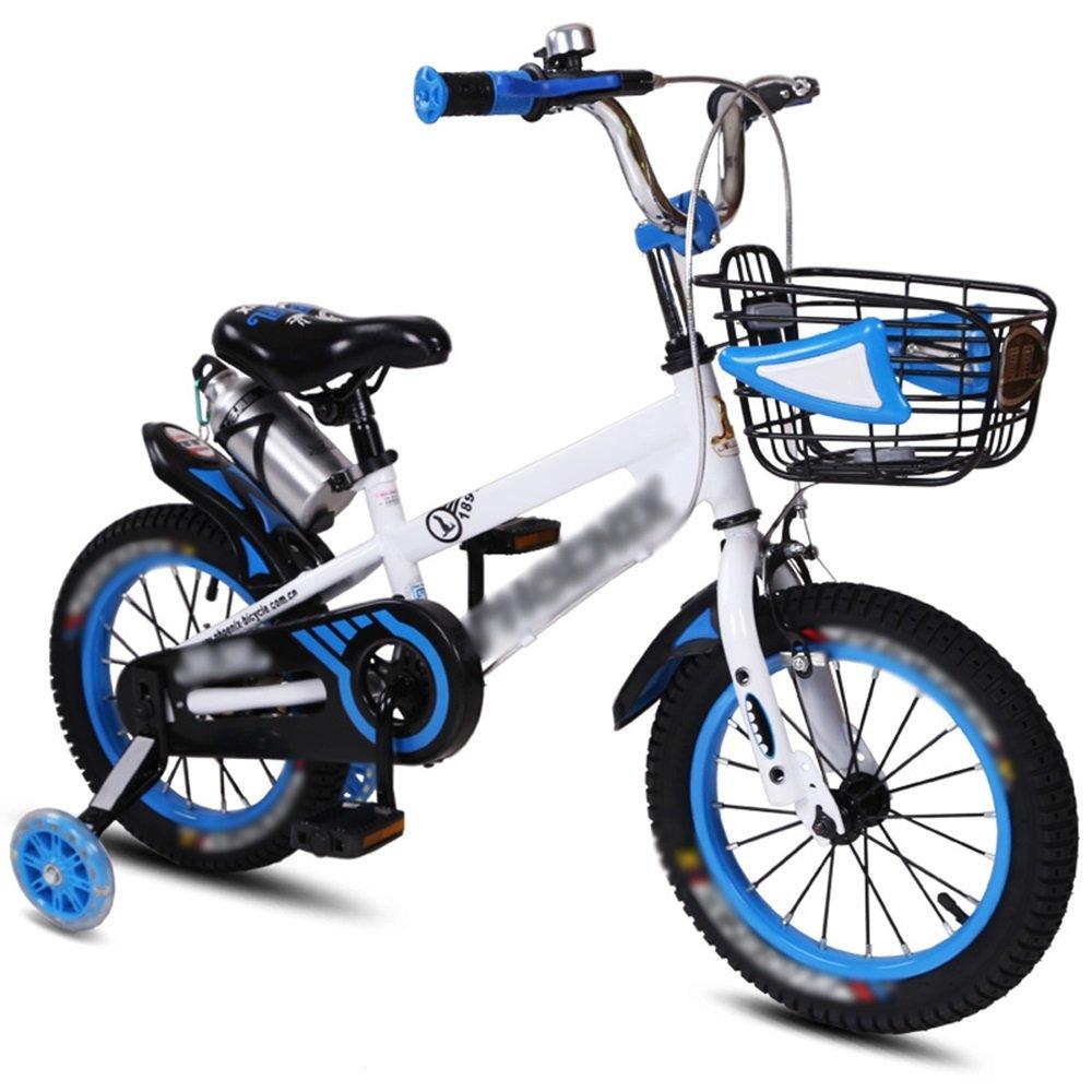 FEIFEI 子供用自転車ベビーキャリッジ12/14/16/18インチマウンテンバイクブルーオレンジレッドイエロー環境保護材料 ( 色 : 青 , サイズ さいず : 18 inch ) B07CRQ2K9X青 18 inch