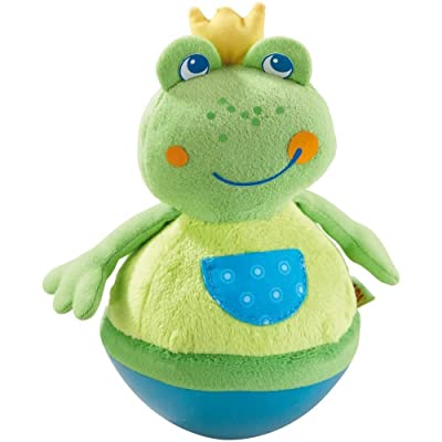 HABA Roly Poly Frog Soft Wobbling & Chiming Baby Toy : Toys And Games : Baby