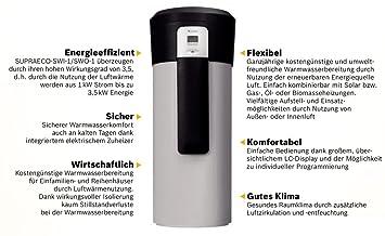 Junkers – Hot Wasser Wärmepumpe Luft SWI 270–2 innen, Wärmepumpe ...
