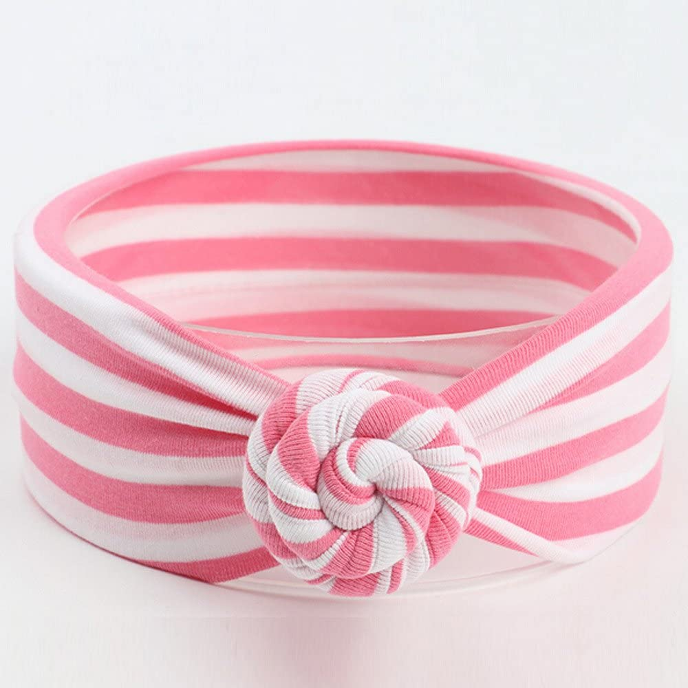 Infant Girls Stripe Print Cotton Headbands Bow for Toddler Kids Baby Hairband Turban Hairbands