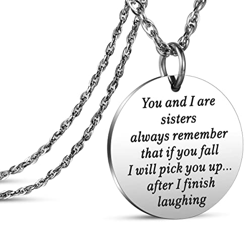 fb3fd74da719e JanToDec Jewelry Sister Gifts from Sister Laughing Necklace for Sister  Birthday Christmas Valentine Gift