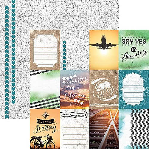 ons P-2071E Discover Tags Travel Double-Sided Cardstock, 12