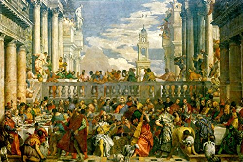 The Wedding Feast at Cana by Paolo Veronese Mural Giant Poster 36x54 (Large Renaissance Album)