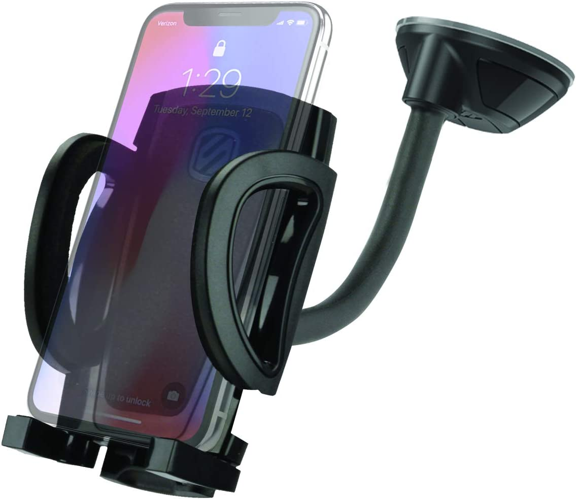 SCOSCHE IHW10-2PK STUCKUP Universal 4-in-1 Smartphone/GPS Suction Cup/Vent Mount Kit for The Car, Home or Office - 2-Pack