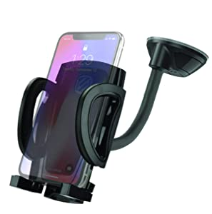 SCOSCHE IHW10 STUCKUP Universal 4-in-1 Smartphone/GPS Suction Cup/Vent Mount Kit for the Car, Home or Office