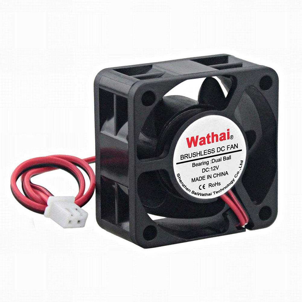 Wathai 40mm x 20mm 12V Dual Ball Bearing DC Brushless Cooling Fan