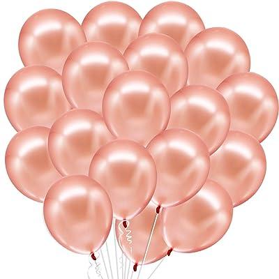40th Birthday Latex Balloons Rose Gold  Deflated Birthday Decorations