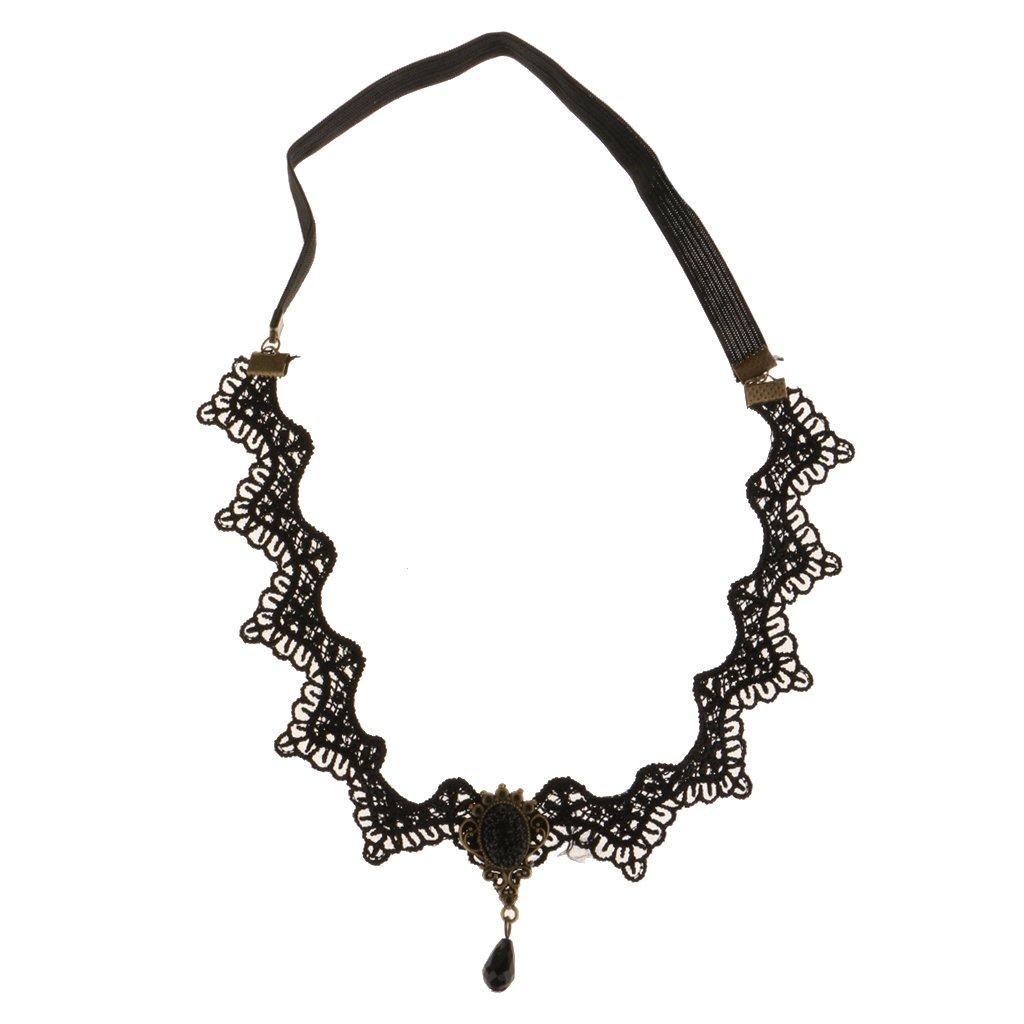 Generic Headband Retro Lace Black Hair Jewelry Head Piece Bridal Band Boho Accessory STK0156005122