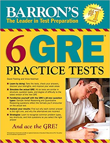 2nd Edition Barrons 6 GRE Practice Tests