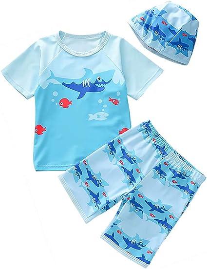 EGELEXY Kids Baby Boy Summer Long Sleeve One Piece Rash Guard Swimsuit Sun Protection Swimwear