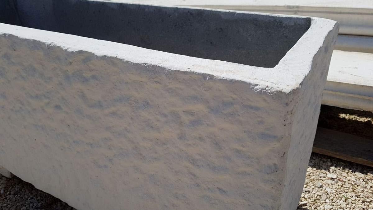 Fioriere In Cemento Bocciardate Cm100x25x38h Bianco Amazon It Fai