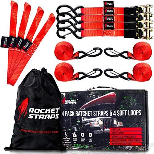 "Rocket Straps - Ratchet Straps   1"" x 17"