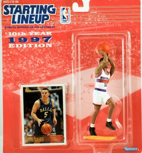 (1997 - Kenner - Starting Lineup - 10th Anniversary - NBA - Jason Kidd #32 - Phoenix Suns - Vintage Action Figure - w/ Trading Card - Limited Edition - Collectible)