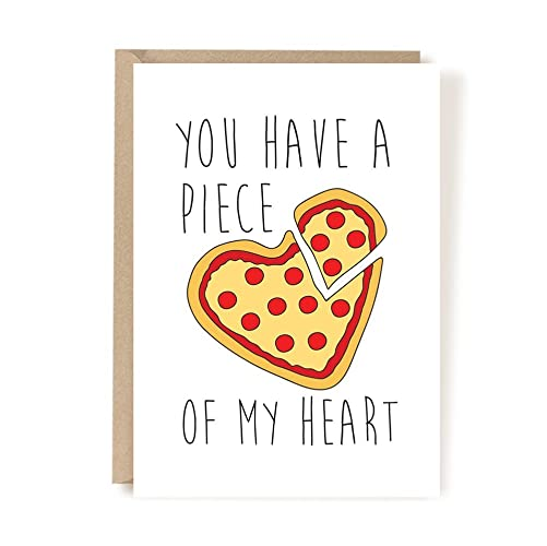 Amazoncom Love Card Valentines Day Card Heart Love Card Pizza