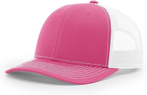 Hot Pink Nylon Flat Brim Snapback Hat