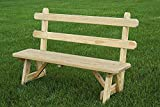 Furniture Barn USA Pressure Treated Pine 42″ Traditional Picnic Bench with Back Amish Made USA – Unfinished Review