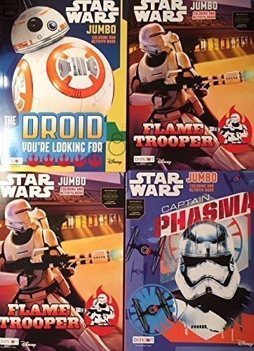 Actividades creativas Star Wars Jumbo Coloring and Activity Book set of 4