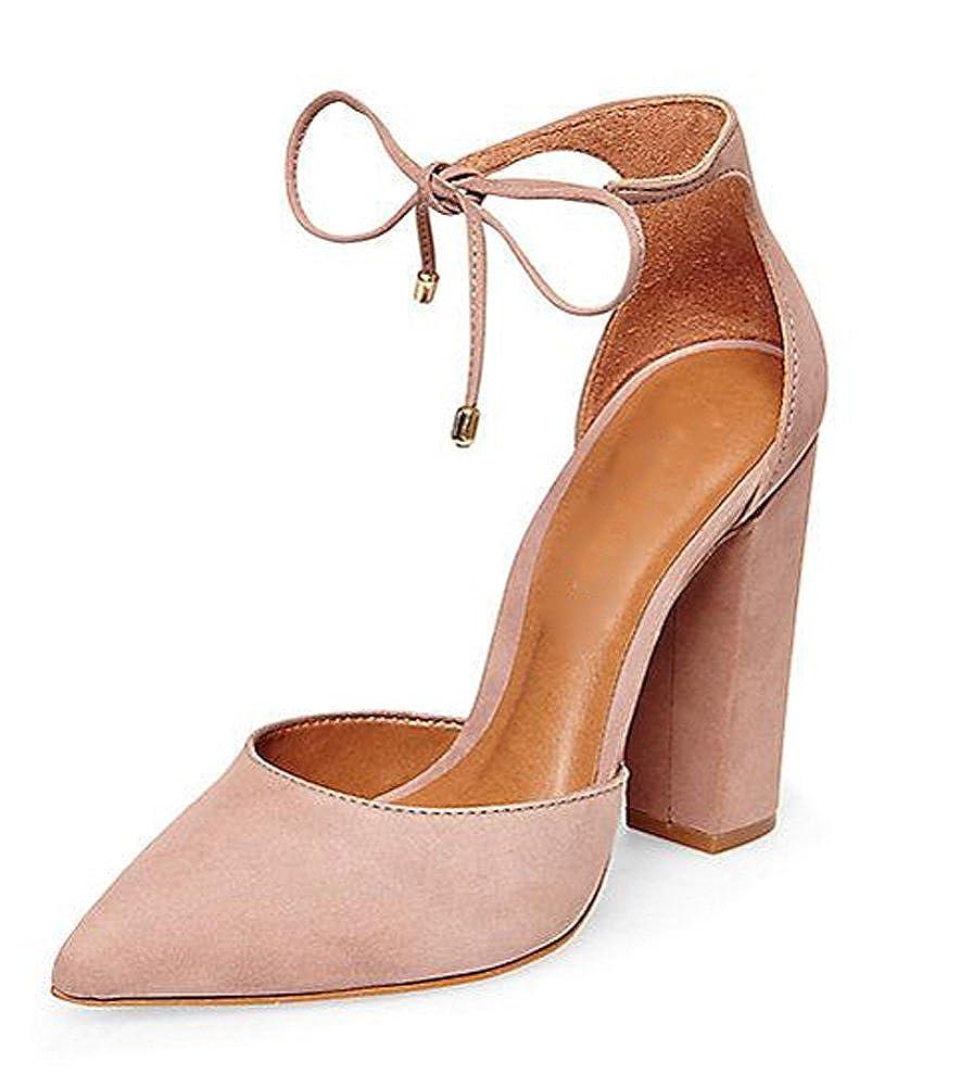 Minetom Donna Estate Scarpe Col Tacco Stiletto Elegante Cinturino Caviglia Tacco Alto Pompe Partito Sandali Con Lacci Beige