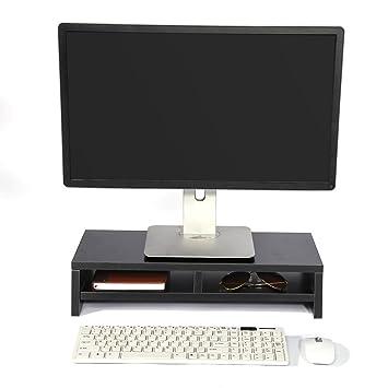 Soporte de Madera Universal con organizador para Monitor, TV, Portátil, Estante de Escritorio para Elevar la Pantalla de Sobremesa, 50*20*11,7cm ...